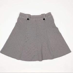 TRINA TURK Striped Seersucker A-Line Skirt